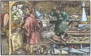 From Francesco Petrarcha Das Gluckbuch Beydes Des Guten Und Bosen 1539, Alchemical And Hermetic Emblems 1